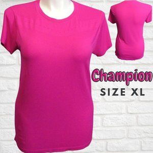 Womens Hot Pink Champion  Activewear Shirt Size XL
